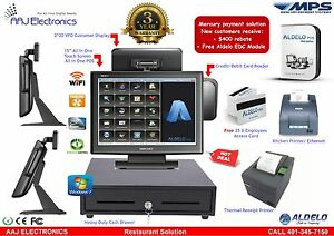 Aldelo 15 Touch Screen All In One Pos System Restaurant Pro Edition