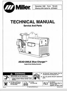 Miller Aead 200le Bluecharger Technical Manual Eff W Je784691