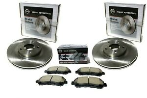 2000 2001 Nissan Maxima Front Left Right Disc Rotors W Front Brake Pad Va Kit