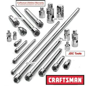 Craftsman Tools 21 Pc Adapter Universal Accessory Set With 2 20 Extensions