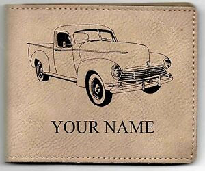 Hudson Pickup Leather Billfold With Drawing And Your Name On It Nice Quality