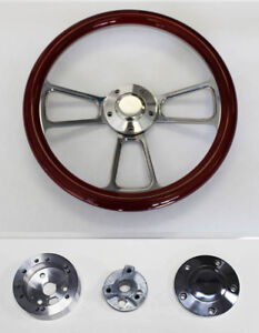 67 68 Pontiac Gto Firebird Wood Steering Wheel Mahogany Billet 14 High Gloss