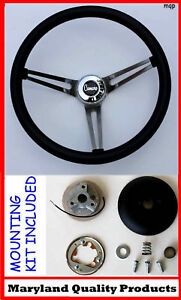 1968 Chevrolet Camaro Grant Black Steering Wheel 15 Stainless Steel Spokes