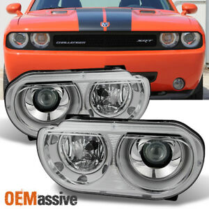 2008 2014 Dodge Challenger Hid Xenon Type Projector Headlights Replacement Pair