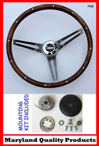 New 1967 Camaro Grant Wood Steering Wheel Walnut 15