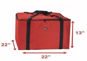 New Insulated Thermal Pizza Food Pizza Delivery Bag 22 X 22 X 13