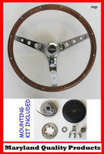 New 1967 Camaro Grant Wood Steering Wheel Camaro Emblem Walnut 15