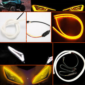 White Yellow Switchback Led Tube Strip Silicone Lights For Retrofit Headlights