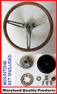 New 1970 1977 Mustang 15 Grant Wood Steering Wheel Cobra Center Cap Walnut