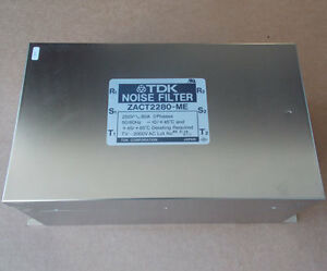 Tdk Zact2280 me Noise Filter 3 Phase 80a 250v Used