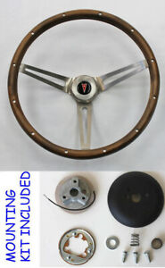 New 1964 1966 Pontiac Gto Grant Wood Steering Wheel Wood Walnut 15