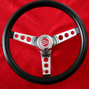 New Mercury Comet Cyclone Monterey Grant Steering Wheel Black 13 1 2