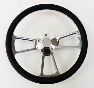 1948 1959 Chevy Chevrolet Pick Up Truck Black And Billet Steering Wheel 14