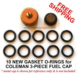 10 New Gas Cap Gasket O rings For Coleman Fuel Caps Stove Lantern Filler Cap