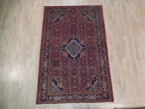 High Quality Hand Woven Rug 4 X 7 Semi Antique Persian Bijar Rug