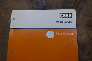 Case W14b Front End Wheel Loader Parts Manual Book Catalog List Spare 1991 Shop