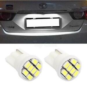 2x Xenon White T10 194 License Plate Light Led 8 Smd Epistar Smd Bulb For Buick