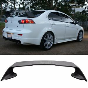 Fit For 08 15 Mitsubishi Lancer Evo 10 Abs Rear Trunk Spoiler Wing Matte Black