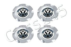 Genuine Wheel Center Hub Covers 4x Set Chrome Black Vw New Beetle 2006 2010