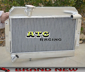 56mm All Aluminum Radiator For 1955 1962 Rover Mg Mga 1500 1600 1622 De Luxe