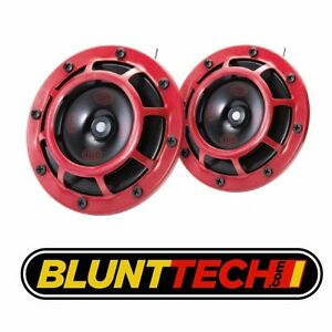 Hella Supertone Universal 12v 300 500hz Horn Kit Red