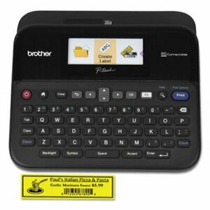 Brother P touch Pc connectable Label Maker With Color Display Black brtptd600