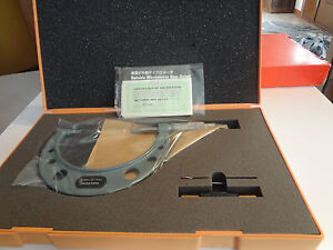 Mitutoyo Non rotating Blade Micrometer 75 100mm 0 01mm 0 75mm Blade 122 104