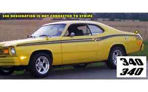 1973 74 Plymouth Duster 340 Side Stripes Kit Mopar With 340 73 74 gloss Black