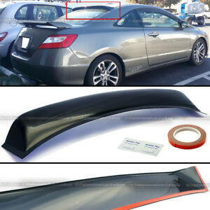 For 06 10 Civic 2dr Coupe Rear Window Roof Sun Rain Shade Vent Visor Spoiler