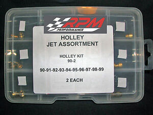 Holley Carburetor 1 4 32 Gas Main Jets Assortment Kit 90 99 2 Each 20pack 90 2