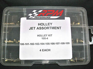 Holley Carburetor 1 4 32 Gas Main Jets Assortment Kit 100 109 4each 40pack 100 4