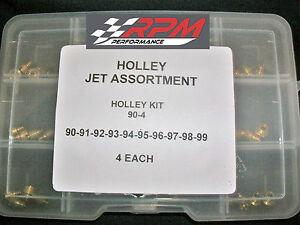 Holley Carburetor 1 4 32 Gas Main Jets Assortment Kit 90 99 4 Each 40pack 90 4