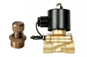 Air Ride Suspension Brass Valve 3 8 npt Electric Solenoid With Slow Down Dump