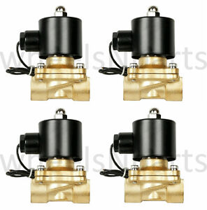 Air Ride Suspension Valves Four 1 2 Npt Brass Fast Electric 250psi Max Parts