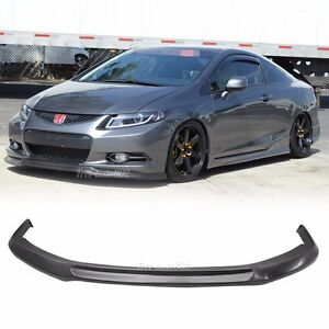Fit For 2012 2013 Honda Civic Coupe Ikon Style Front Bumper Lip Pu