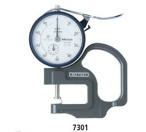 Mitutoyo 7301 Dial Thickness Gage 0 10mm Range 0 01mm Resolution