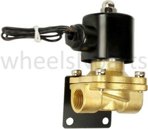 Air Ride Suspension Valve 1 2 npt Brass 12v Electric Solenoid Mounting Bracket
