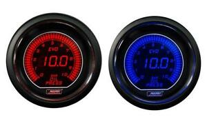 Digital Oil Pressure Gauge Prosport Evo Series Blue Red 0 10 Bar Metric Scale