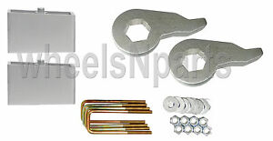 Lift Kit Chevy 1992 1999 K1500 6 Lug Forged Torsion Keys 4 Aluminum Blocks