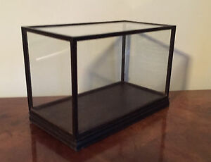 Vintage Chinese Glass Wood Display Box Case Plateau Stand Base Cover For Vase