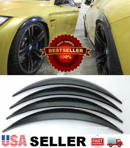 2 Pairs Abs Black 1 Arch Extension Diffuser Wide Body Fender Flares For Chevy