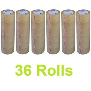 New Lot 36 Rolls 2 X 110 Yards 330 Ft Box Carton Sealing Packing Package Tape