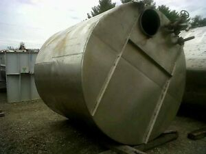 Used 3 000 Gallon Stainless Steel Storage Tank Flat Top And Bottom 2 Of 2