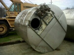 Used 3 000 Gallon Stainless Steel Storage Tank Flat Top Bottom In Pedricktown Nj