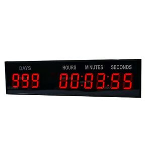 1 8 Led Countdown Timer Digital Clock W remote Button Count Down up Days Event