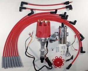 Small Cap Pontiac 389 400 455 Pro Series Red Hei Distributor Chrome Coil Wires
