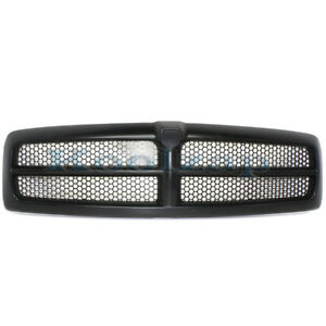 New 99 02 Ram Pickup Truck Front Black Grill Grille Assembly Ch1200245 Qr33dx8ae