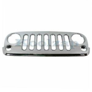 07 15 Wrangler Front Grill Grille Assembly Chrome Shell Ch1200328 68046306aa Ab