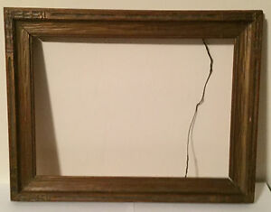 Antique Arts Crafts Picture Frame Carved And Giltwood For Oil Painting Wood