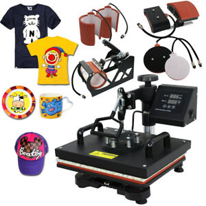 6 In 1 Combo Teflon Heat Press Digital Sublimation Transfer Machine For T shirts
